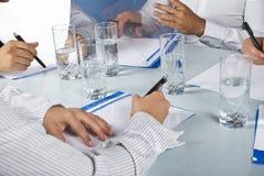 Ciérrese encima de la reunión de negocios Imagen de archivo libre de regalías