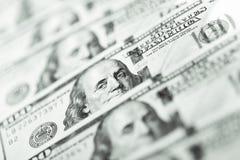 Ciérrese encima de la vista del billete de banco del dólar Fotografía de archivo libre de regalías