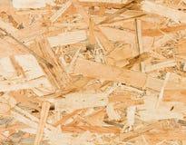 Ciérrese encima de textura del tablero orientado del filamento (OSB) Foto de archivo libre de regalías