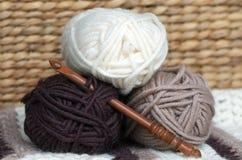 Bolas de las lanas Imagen de archivo