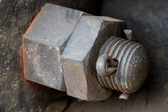 Ciérrese para arriba de la vieja suspensión de la locomotora diesel Fotos de archivo libres de regalías