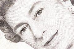 Ciérrese para arriba de una nota de cinco libras Imagen de archivo libre de regalías