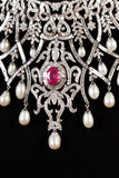 Ciérrese para arriba del collar de diamante Fotografía de archivo libre de regalías