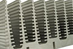 Ciérrese para arriba del disipador de calor Fotografía de archivo