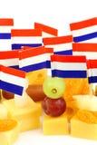 Ciérrese para arriba del queso de Holanda Fotografía de archivo