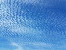 Cirri su un chiaro cielo blu Acqua di previsioni del tempo in uno stato gassoso in natura L'atmosfera della terra L'effetto o fotografie stock libere da diritti