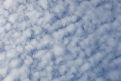 Cirrocumulus cloud. High-altitude tropospheric clouds Royalty Free Stock Photos