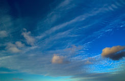 Cirrocumulus clouds natural background Royalty Free Stock Photography