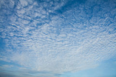 Cirrocumulus clouds. Cirrocumulus is one of the three main genus-types of high-altitude tropospheric clouds, the other two being cirrus and cirrostratus.[3] They Royalty Free Stock Photography