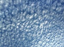 Cirrocumulus clouds in the sky Royalty Free Stock Photo