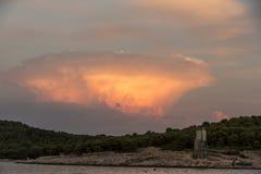 Cirrocumulus high-altitude tropospheric clouds. Cirrocumulus  high-altitude tropospheric clouds Stock Photography