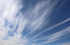 Cirrostratus in the blue sky in summer Stock Photo