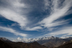 Cirrostratus clouds - Nepal Stock Photos