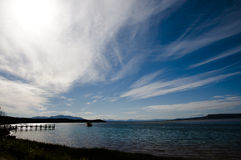 Cirrostratus clouds - Tasmania Royalty Free Stock Photos