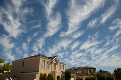 Cirrus σύννεφα - Αυστραλία Στοκ Φωτογραφία