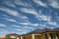 Cirrus σύννεφα - Αυστραλία Στοκ φωτογραφία με δικαίωμα ελεύθερης χρήσης