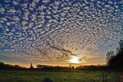 Cirrus σύννεφα Στοκ Φωτογραφία
