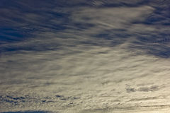 Cirrus ceiling clouds stock photography