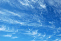 Cirrus Clouds. On beautiful day stock photography