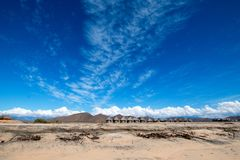 Cirrus clouds above Cerritos Beach - Baja California. Mexico BCS stock images