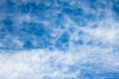 Background of cirrus clouds on a blue sky Royalty Free Stock Image