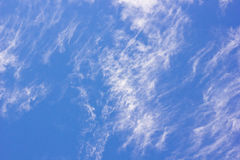 Cirrus clouds and blue sky Royalty Free Stock Photos