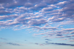 Cirrus clouds in blue sky Stock Photography