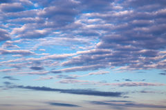 Cirrus clouds in blue sky Stock Photos