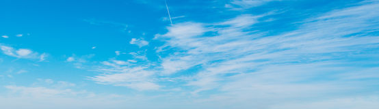 Cirrus clouds and blue sky Stock Photo