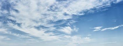 Cirrus clouds on a deep blue sky stock image