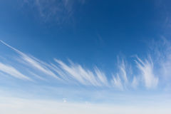 Cirrus clouds in the shape of a crown Royalty Free Stock Photography