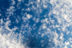 Cirrus clouds in the skies Stock Image