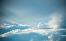 Cirrus clouds in the sky.  royalty free stock photography