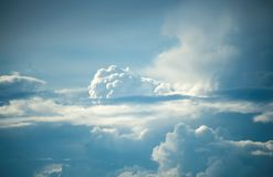 Cirrus clouds in the sky.  royalty free stock photos