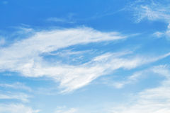 Cirrus clouds in sky Royalty Free Stock Photography