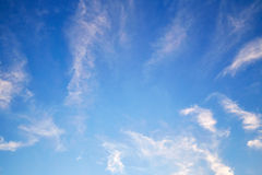 Cirrus clouds in sky Royalty Free Stock Photos