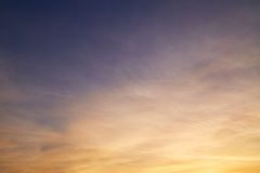 Cirrus clouds in sky Stock Images