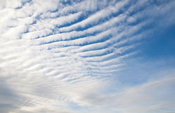 Cirrus Clouds Textured Background. Cirrus clouds at sunset Outdoors Royalty Free Stock Photos