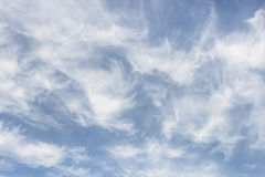Cirrus Clouds. Type on sky royalty free stock photography