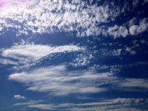 cirrus clouds Royalty Free Stock Image