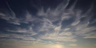 Cirrus Cloudscape At Sunset Stock Image