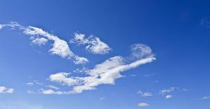 Cirrus Contre un ciel bleu abrégez le fond image stock