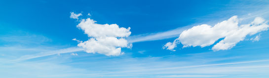 Cirrus and cumulus clouds in the sky Stock Image