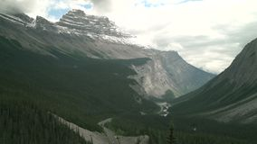 Cirrus Mountain, Icefields Parkway, Alberta 4K UHD. Cirrus Mountain with fresh snow in the Rocky Mountains. Alberta, Canada. 4K UHD stock video footage
