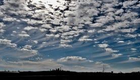 Cirrus Uncinus wolken royalty-vrije stock afbeeldingen