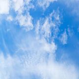 Cirrus white clouds in blue sky Royalty Free Stock Photography