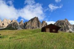 Cirspitzen Dolomites - Gardena pass Stock Photo