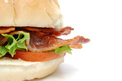 Cirspy bacon burger Royalty Free Stock Photos