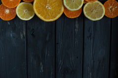 Cirtus на деревянной предпосылке Стоковое Фото