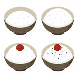 Ciruelo y arroz blanco conservados en vinagre Imagenes de archivo